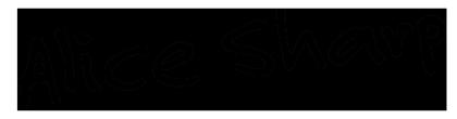 Image of Alice Sharp signature